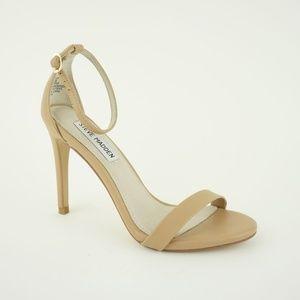 Steve Madden Women's Stecy Heels Sandals, Natural